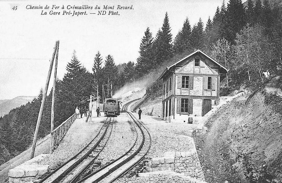 Transpress nz the former cogwheel railway chemin de fer for Mont revard