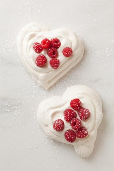 Pavlova Hearts With Chantilly Cream