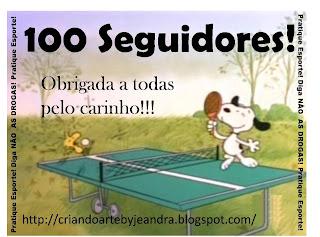 Selinho comemorativo de 100 seguidores do Blog!!!