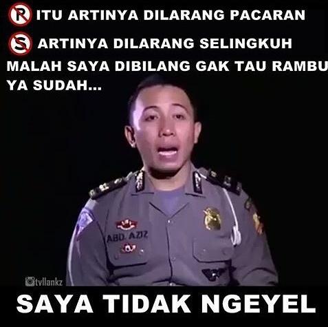 meme polisi saya tidak ngeyel