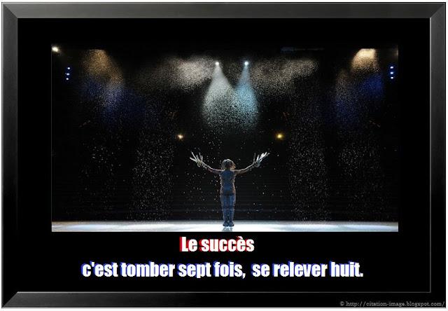 Beau Proverbe sur le succès en image