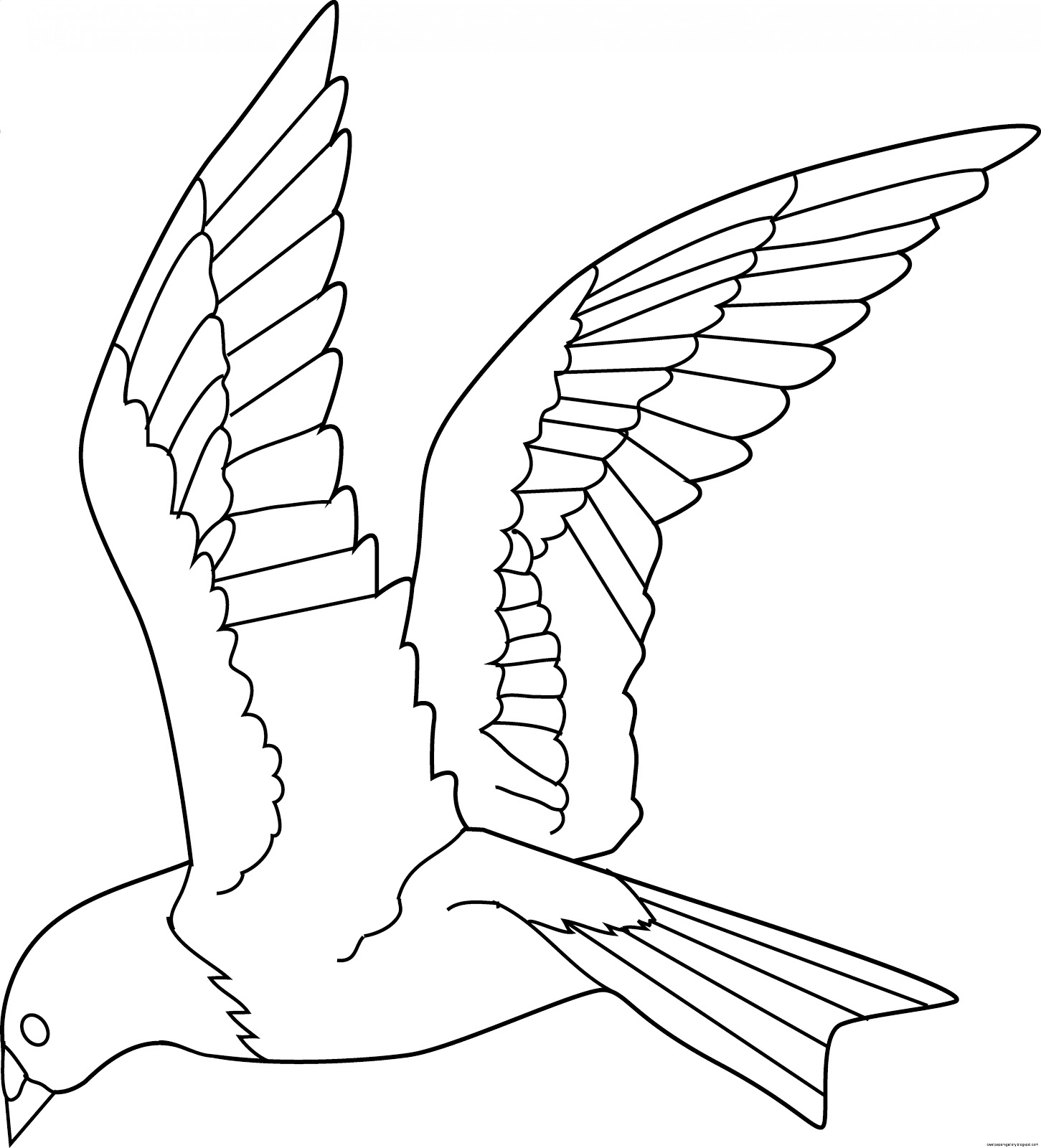 Flying bird clipart wallpapers gallery for Flying crow coloring page