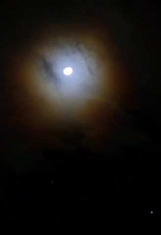 Moon Halo, Moonlight through Clouds, Night; Source: http://publicphoto.org/; credit: Robert & Mihaela Vicol