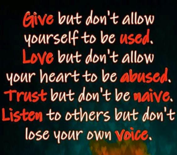 misbruik maken van iemands goedheid