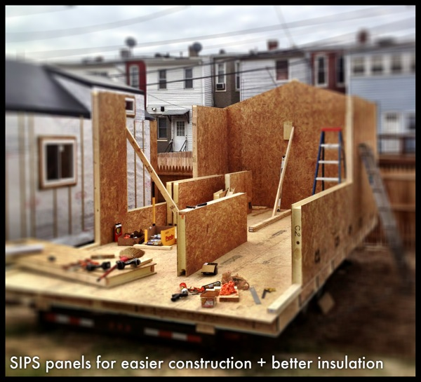 Structural insulated panels sips tiny house wee make for Building a house with sip panels