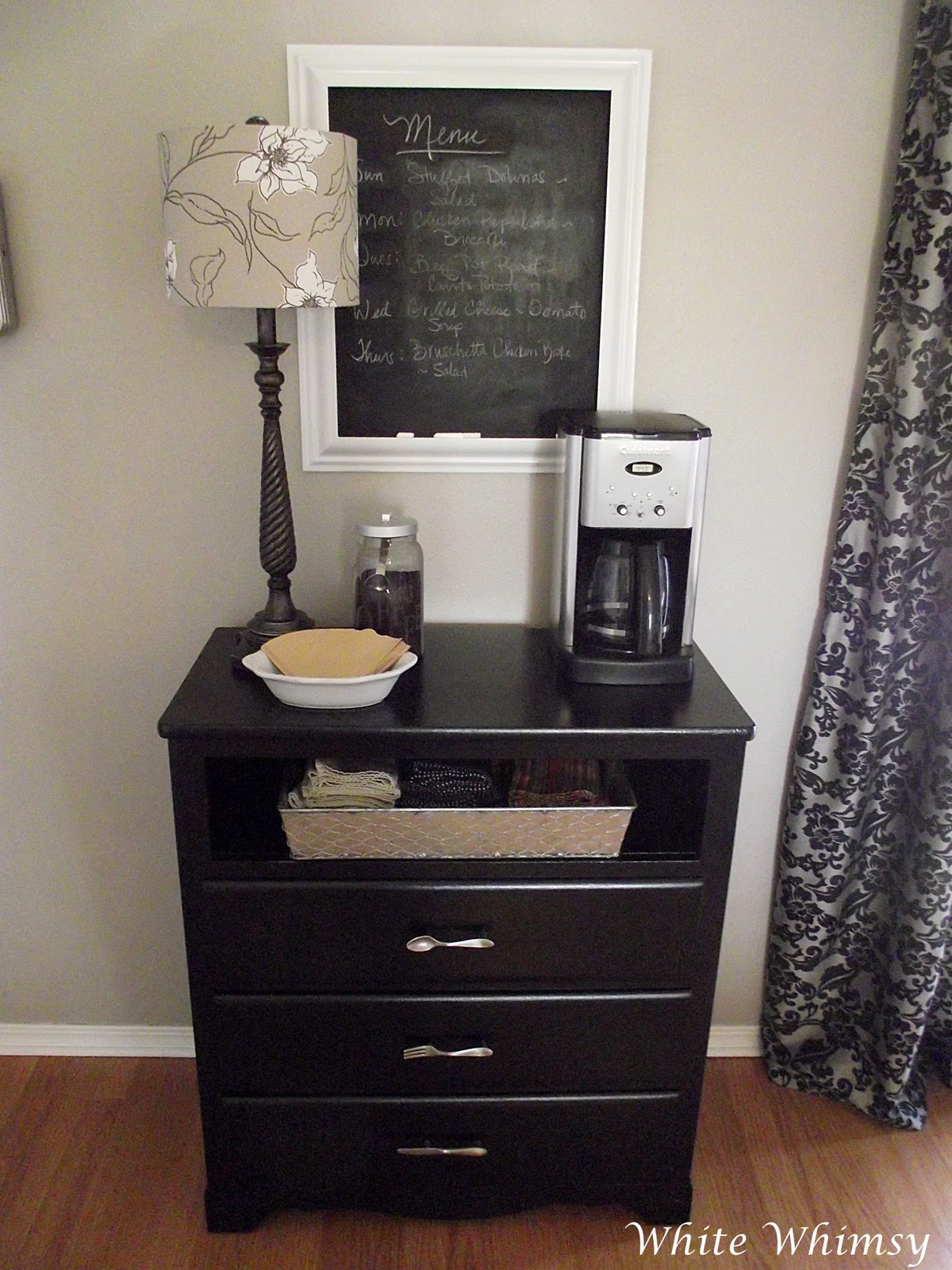 Coffee Maker In Master Bedroom : White Whimsy: A House Tour