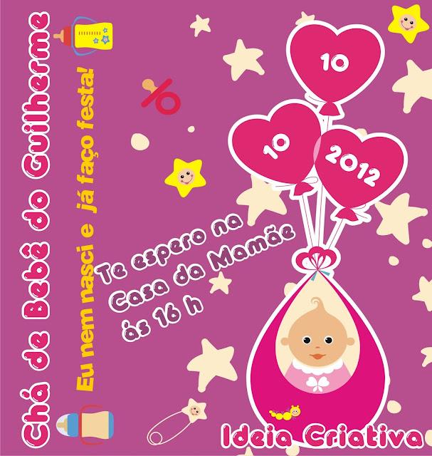 Convite para Chá de Bebê Menino e Menina
