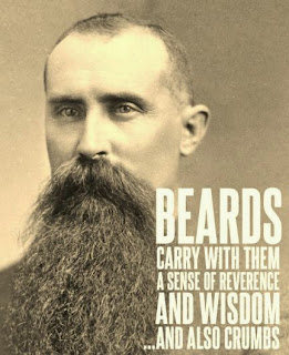 Beards carry with them a sense of wisdom...and also crumbs