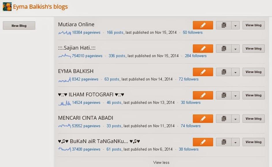 Enam Buah Blog dalam Satu Akaun!!!