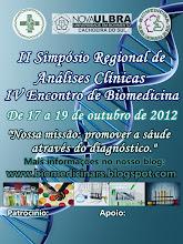 II Simpósio Regional de Análises Clínicas e IV Encontro de Biomedicina