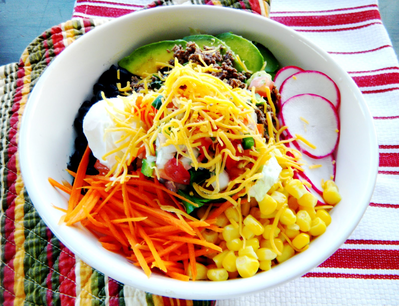 Taco salad bowls with Spanish rice - Cherry on my Sundae