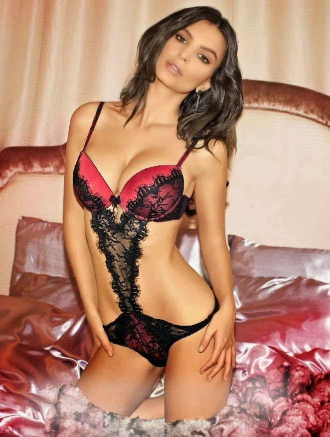Concierge4Fashion: Emily Ratajkowski poses in lingerie for the ...