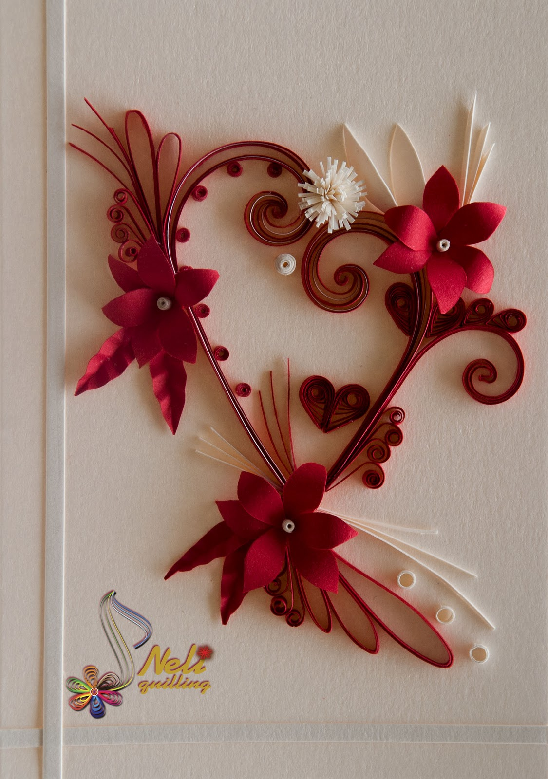 Neli quilling art quilling cards with love 2 for Quilling paper art