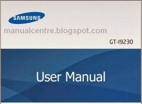 Samsung I9230 Galaxy Golden Manual