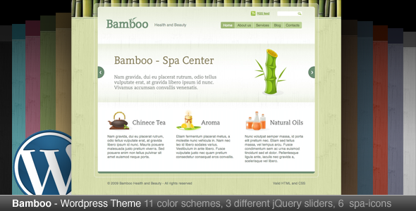 Bamboo Wordpress Theme Free Download by ThemeForest.