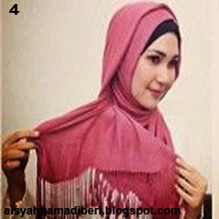 Cara Memakai Jilbab Kreasi Jilbab Pashmina Segiempat Untuk Acara Resmi