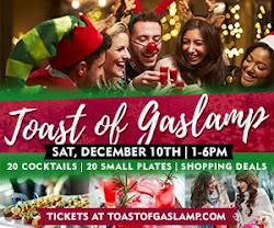 Save on passes to the Toast Of Gaslamp on December 10!
