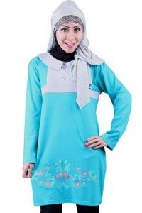 Naf1ah Blus N48 - Toska Abu (Toko Jilbab dan Busana Muslimah Terbaru)