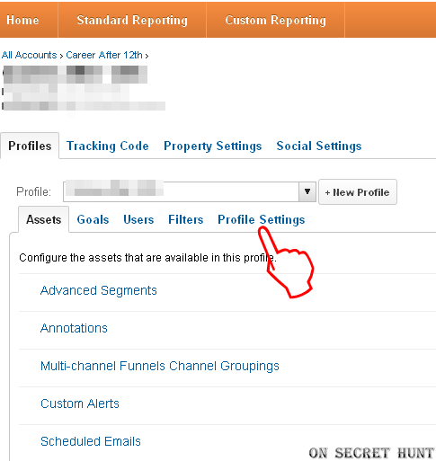 Profile+Settings+google+analytics How To Delete a Profile/Website From Your Google Analytics Account