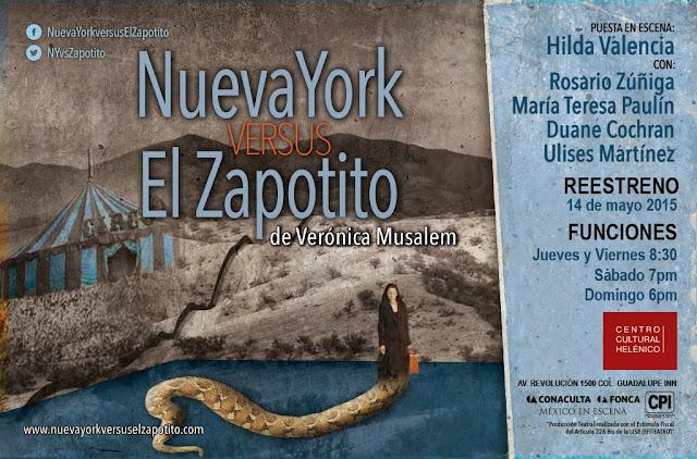 """Reestreno de """"Nueva York versus El Zapotito"""" en el Teatro Helénico durante Mayo"""
