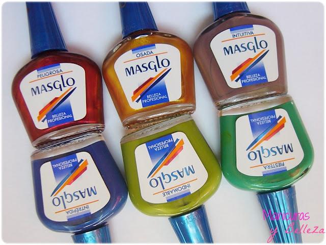 Colección de esmaltes Tierra de Placeres de Masglo 2013 Fiestera Indomable Intrépida Intuitiva Osada Peligrosa Swatches Opinión