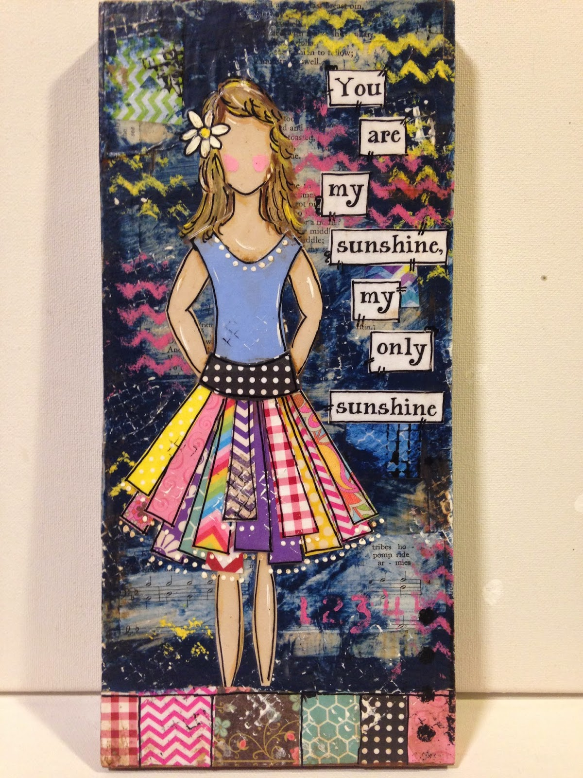 you are my sunshine wood sign, mixed media, mixed media she art