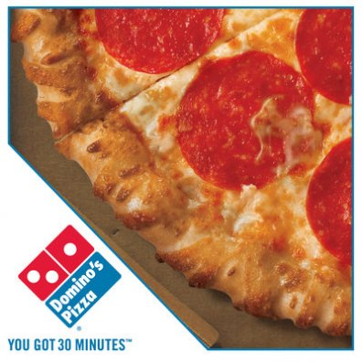 Dominos Pizza and chicken soup
