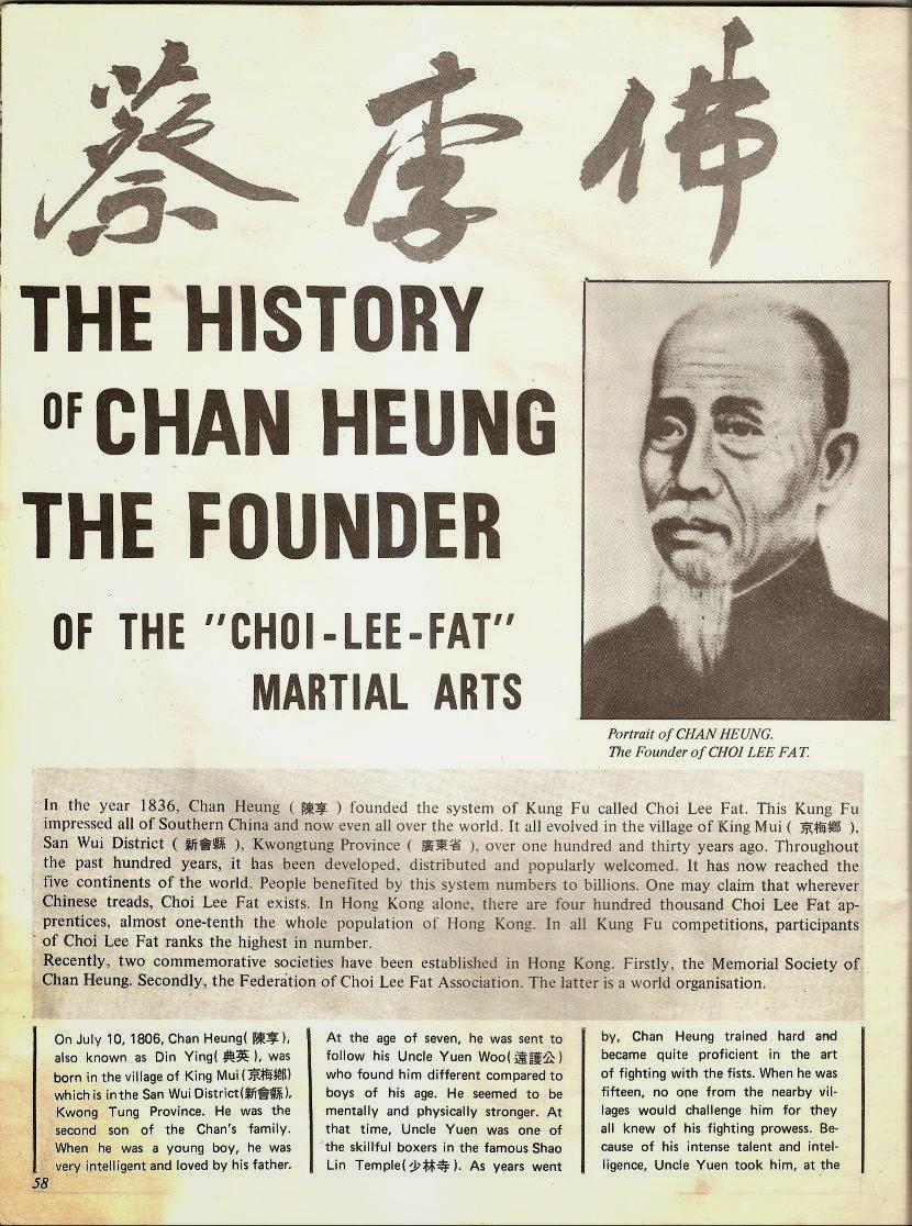 Jornal sobre Chan Heung