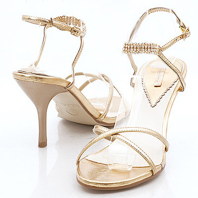 A wedding addict pretty gold wedding shoes for Gold dress sandals for wedding