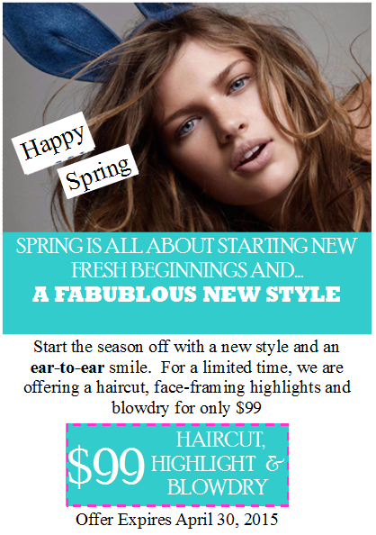 Spring is here for A new beginning salon