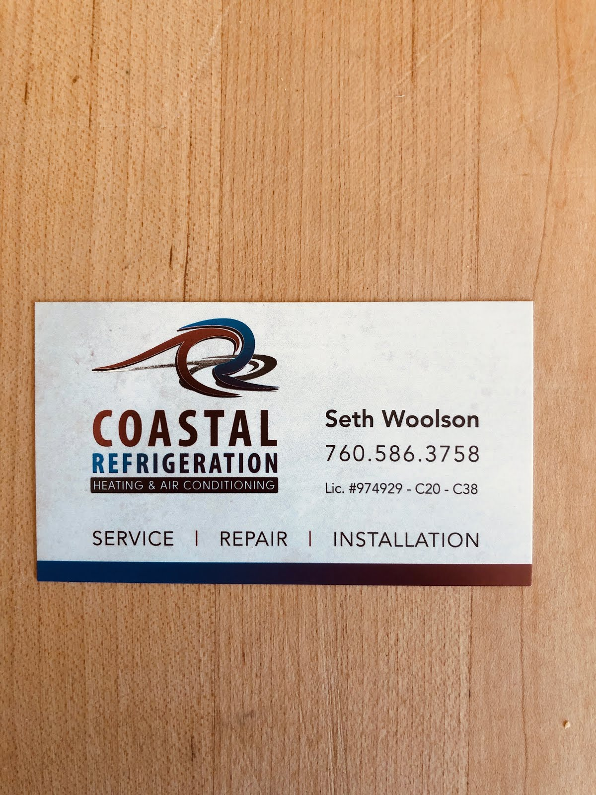 Coastal Refrigeration  760-586-3758