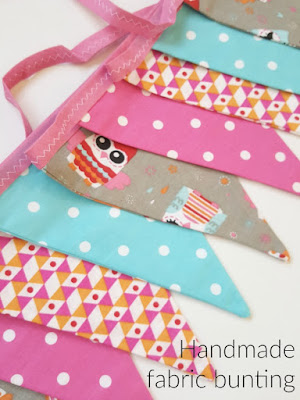fabric_Bunting_Pink_Owl