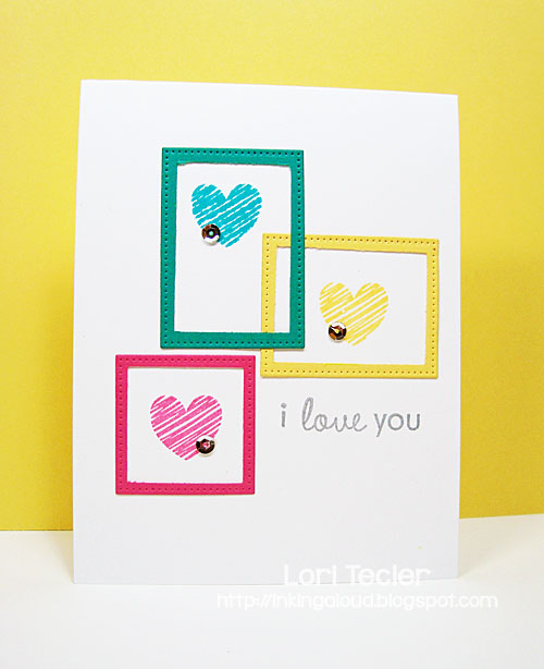 I Love You card-designed by Lori Tecler/Inking Aloud-stamps from Papertrey Ink
