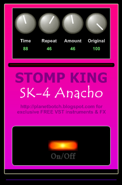 Stomp King SK-4 Anacho analogue delay/echo