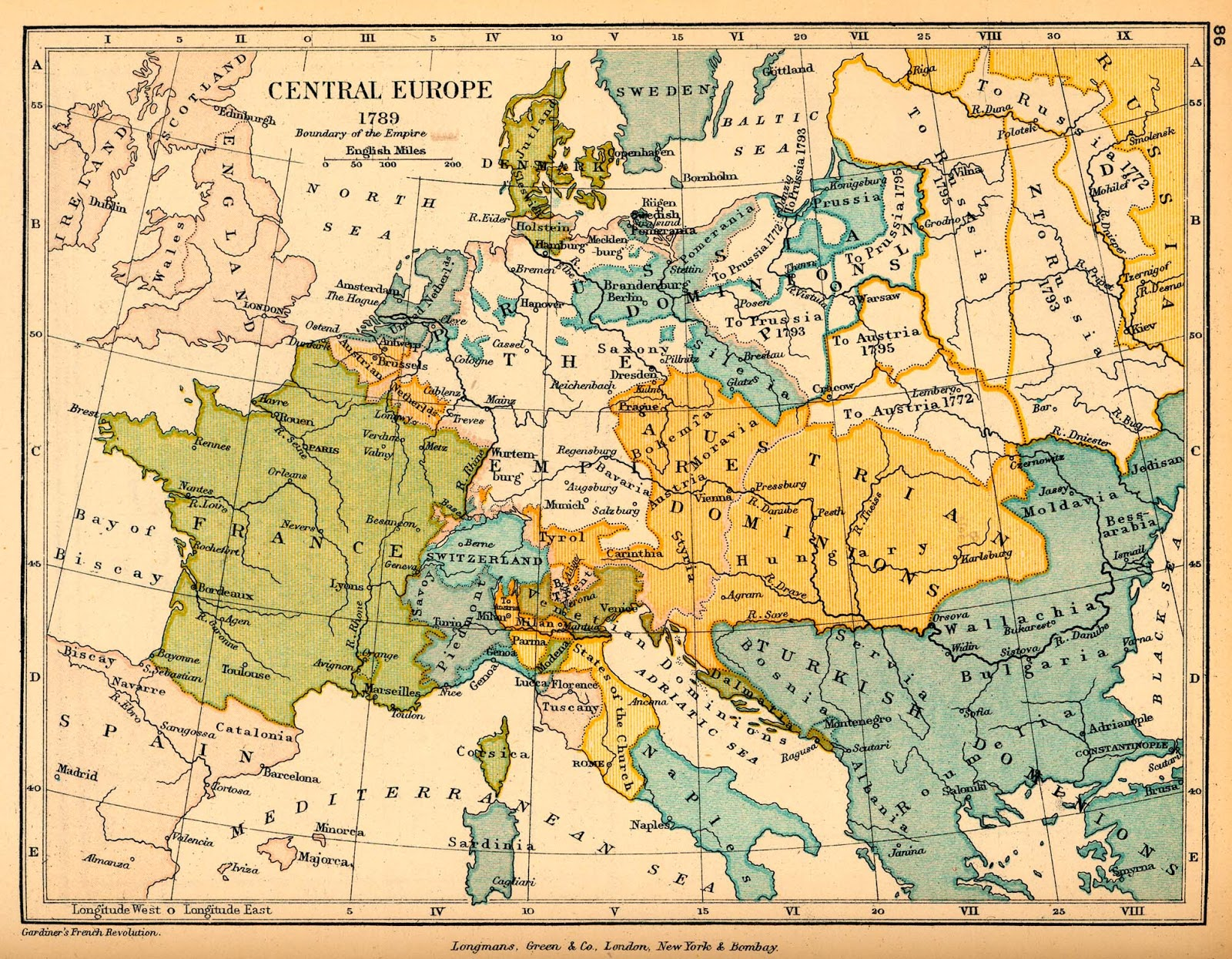 Regency wrangles maps of central europe 1789 1815 the effects of from 1789 1799 the borders of france expanded as shown below the map shows territory acquired during napoleons italian campaigns of 1798 and 1799 gumiabroncs Gallery