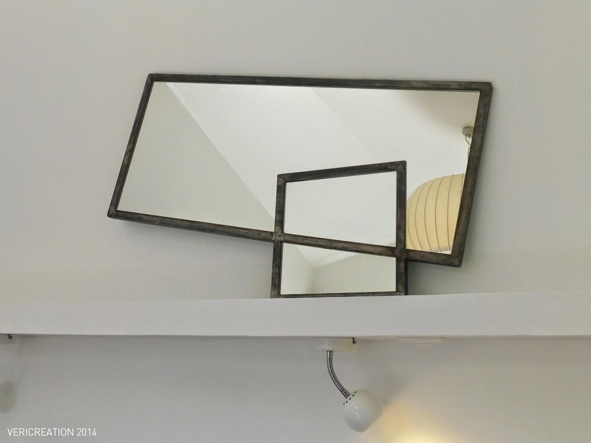 Atelier objets et mobilier for Miroir acier