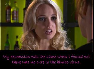 Hollyoaks tg captions bimbo virus