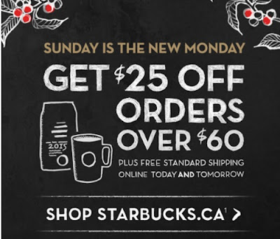 Starbucks Cyber Monday $25 Off Orders Over $60 + Free Shipping