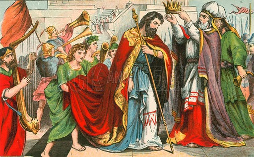 David crowned king in Hebron - Artist unknown