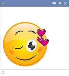 Wink with Hearts Smiley for Facebook