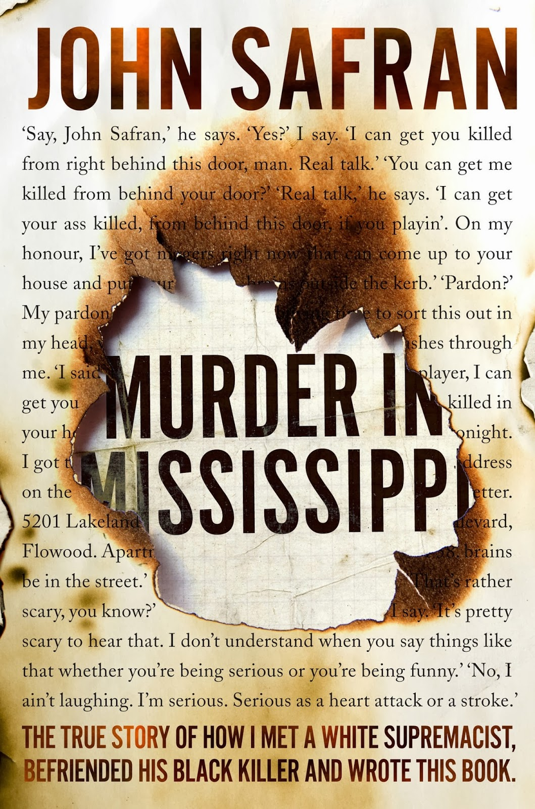 Thanks To Those Who Entered My True Crimepetition To Win A Copy Of  Murder In Mississippi By John Safran, Thepetition Has Now Closed