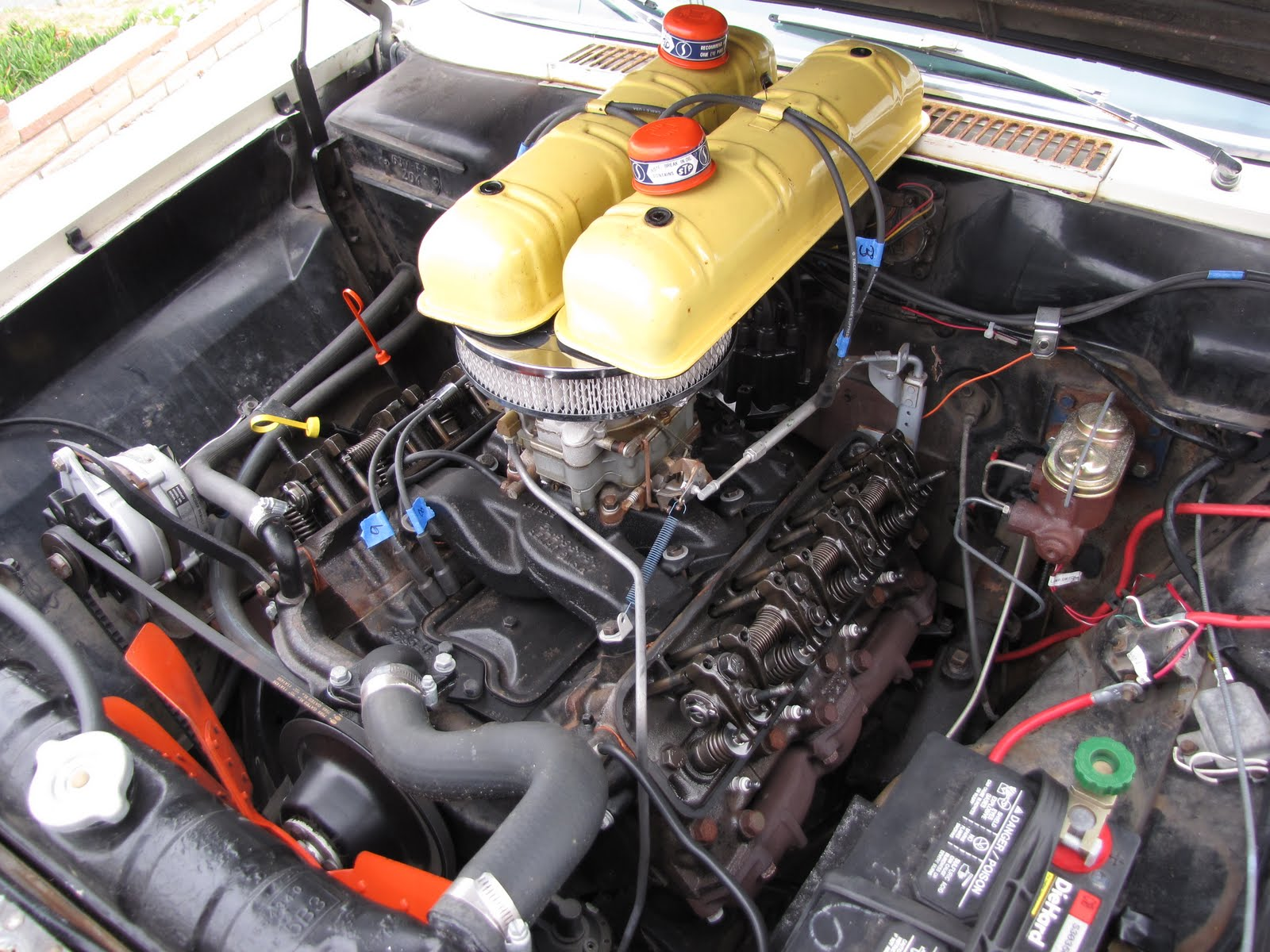 The Studeblogger Valve Adjustment For Studebaker V8 1960 Lark Wiring Diagram After Covers Were Off I Removed Spark Plugs Like Doing This With As It Provides More Room To Work