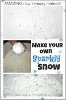 Make Your Own Sparkly Snow