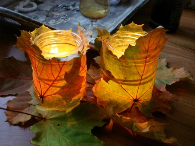 Katis Kreative Ecke Herbstliches Windlicht