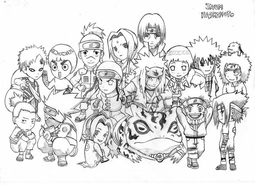 Otaku sweet naruto chibi imagens for Naruto colored pages