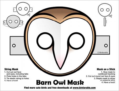 Delightful Halloween Printable Owl Masks
