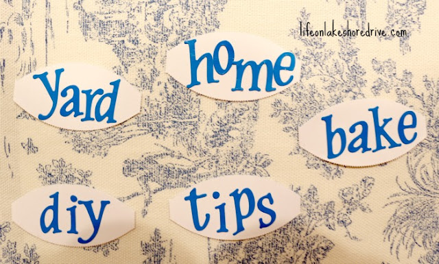 use scrapbook letters for labels