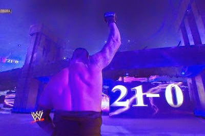 The undertaker stands victorious for the final time