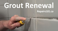 using a grout rake to remove old grout