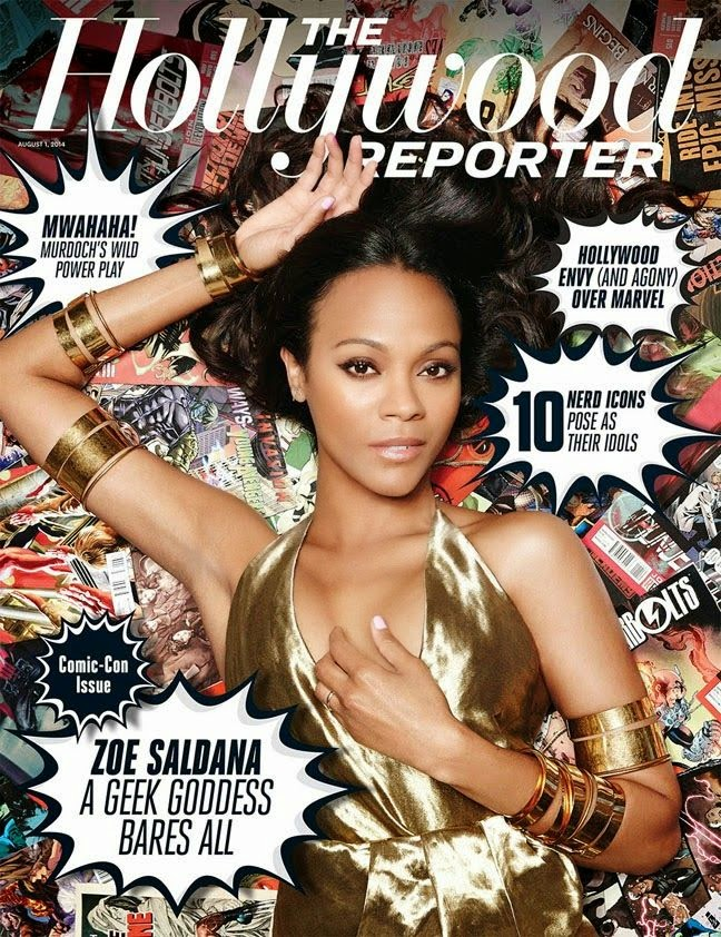 Zoe Saldana - The Hollywood Reporter Magazine, August 2014